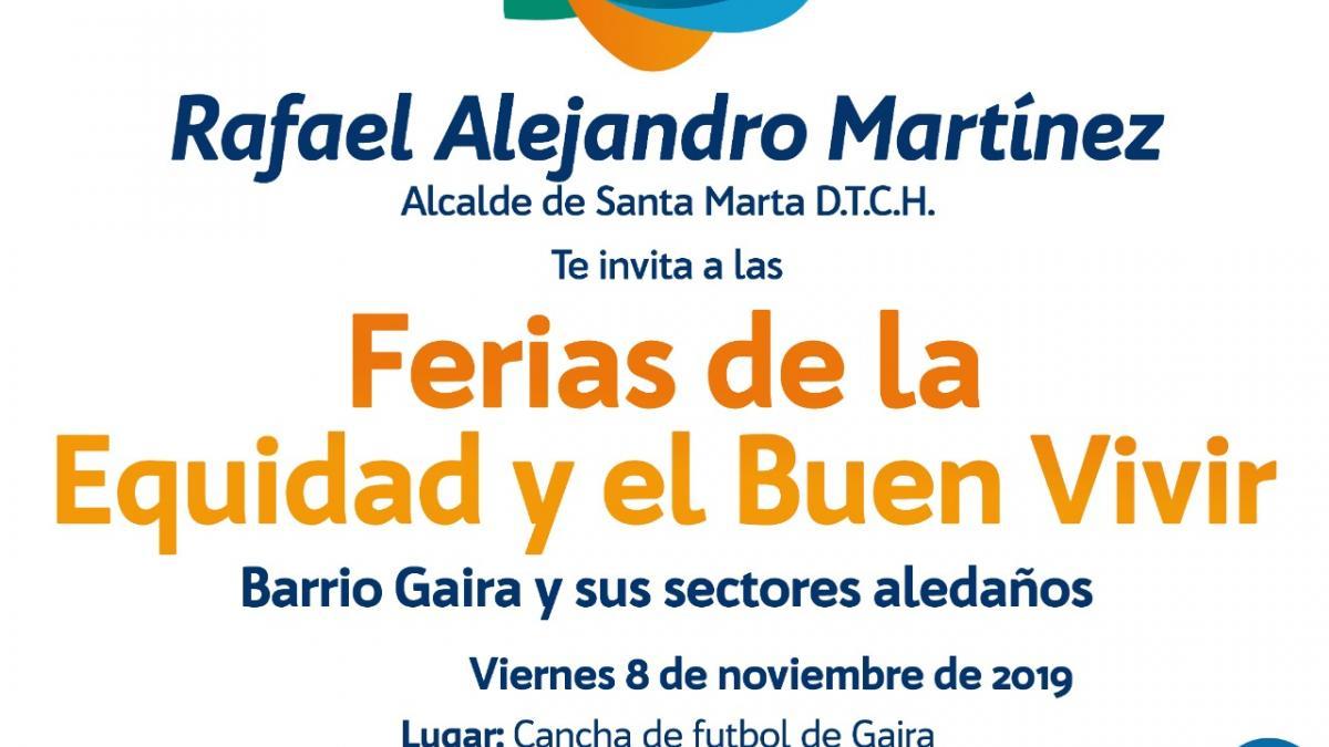 'Gaira' recibirá Feria de la 'Equidad y el Buen Vivir' de la Alcaldía