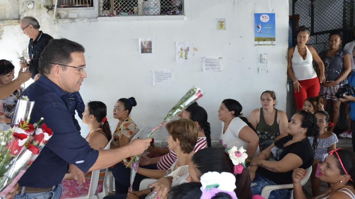 Alcalde Martínez celebró Día de la Mujer en la cárcel Rodrigo de Bastidas