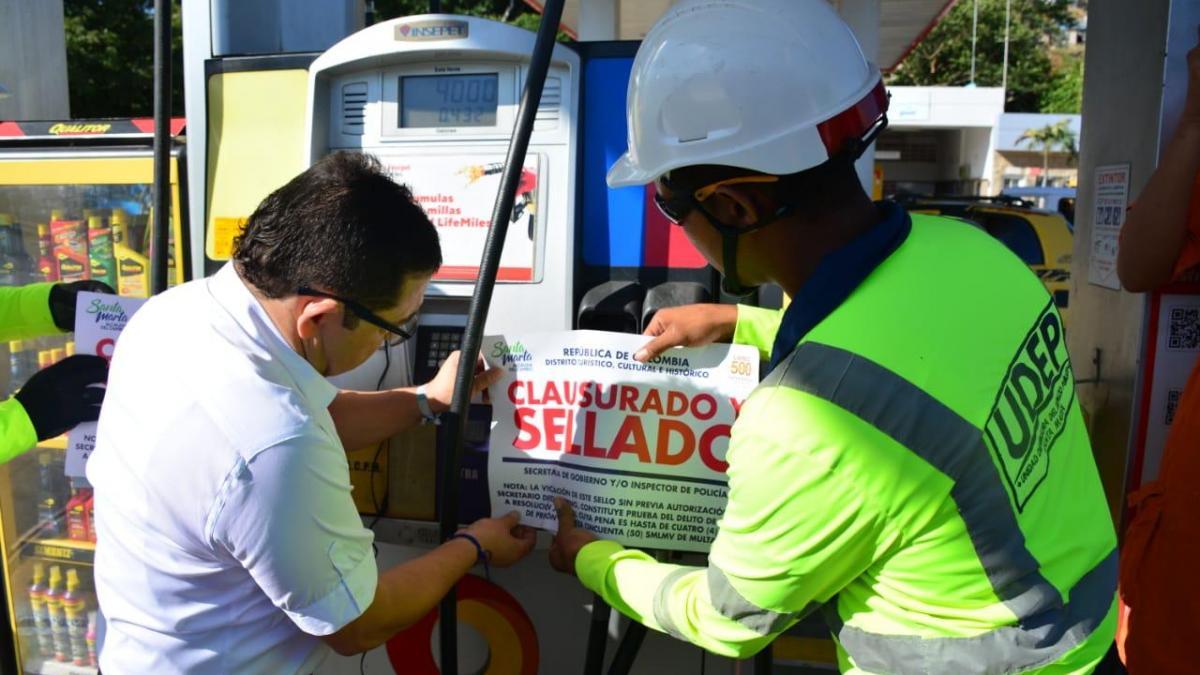 Alcaldía  del Cambio realizó controles a surtidores de estaciones de gasolina