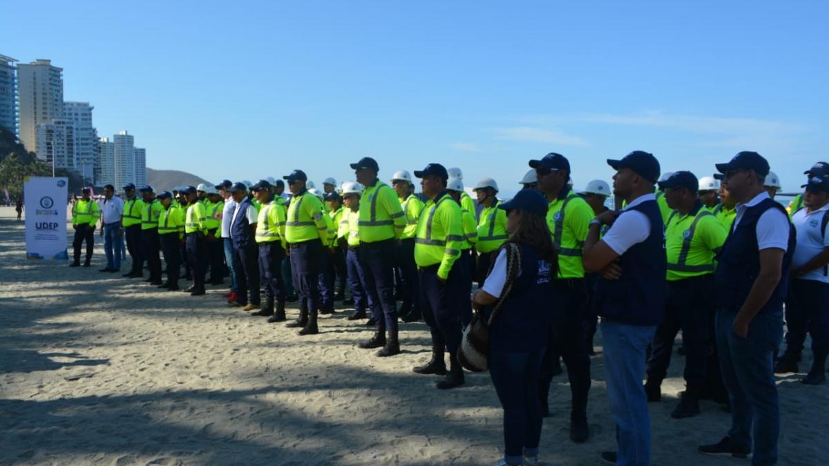 Distrito rechaza agresiones contra operarios de la UDEP durante operativo en El Rodadero