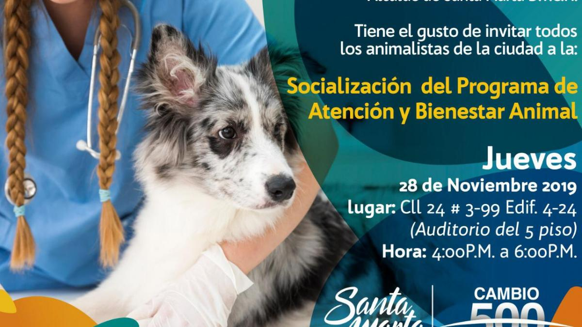 Socialización del Programa de Atención y Bienestar Animal