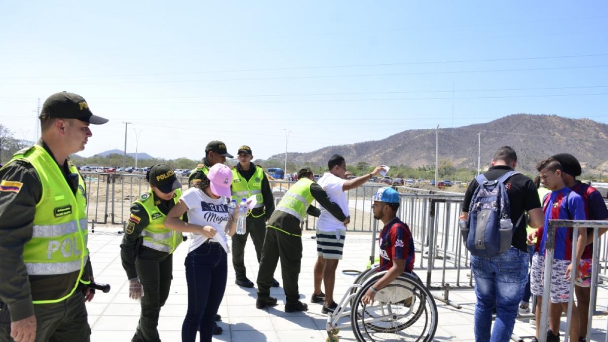 Alcaldía, Policía y Ejército Nacional garantizan seguridad en el partido Unión Magdalena vs Junior de Barranquilla