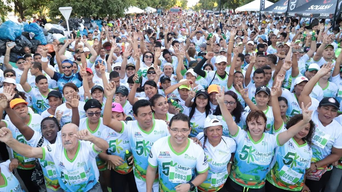 Santa Marta se movilizó por el medio ambiente en la Carrera 5K contra el plástico