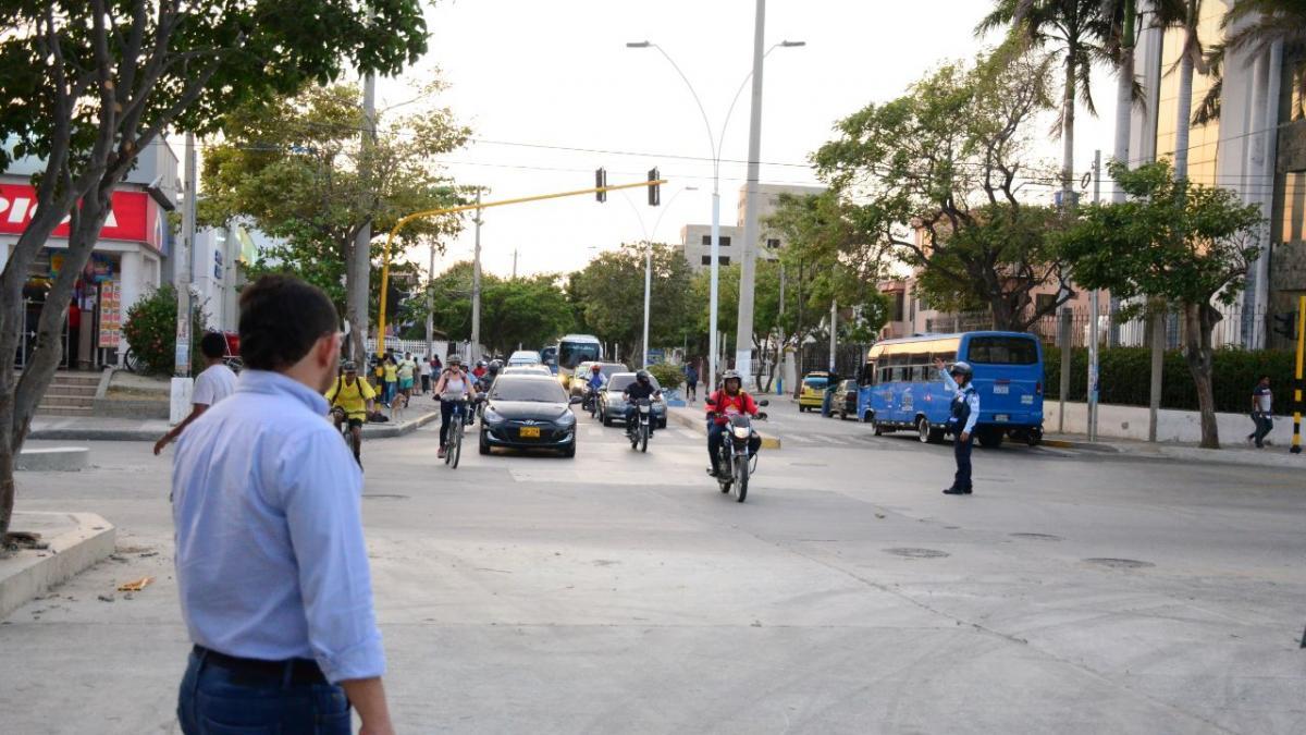 Alcaldía de Santa Marta habilitó tramo vial de la calle 22 con 19, donde se construye colector pluvial Jardín