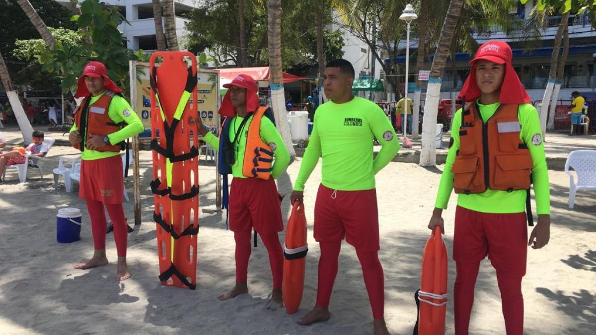 Después de dos años, el Rodadero y la bahía de Santa Marta, vuelven a tener salvavidas