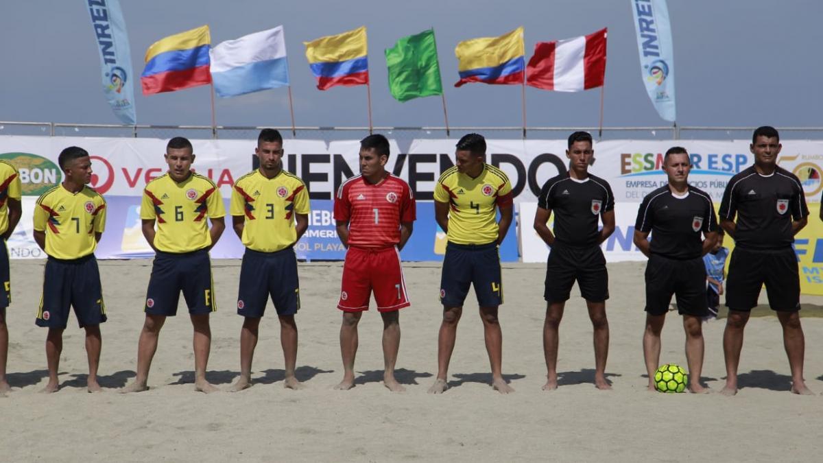 Colombia no arrancó bien el Sudamericano de Futbol playa