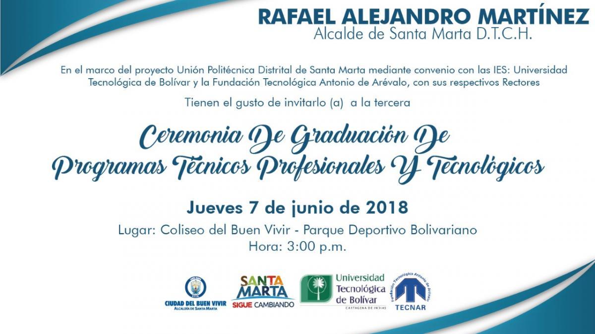 Alcalde Martínez invita a la graduación de la 3ra cohorte de la Unión Politécnica Distrital