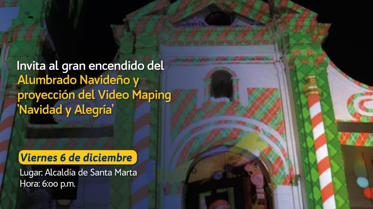 Santa Marta vivirá una navidad con video mapping en diferentes iglesias