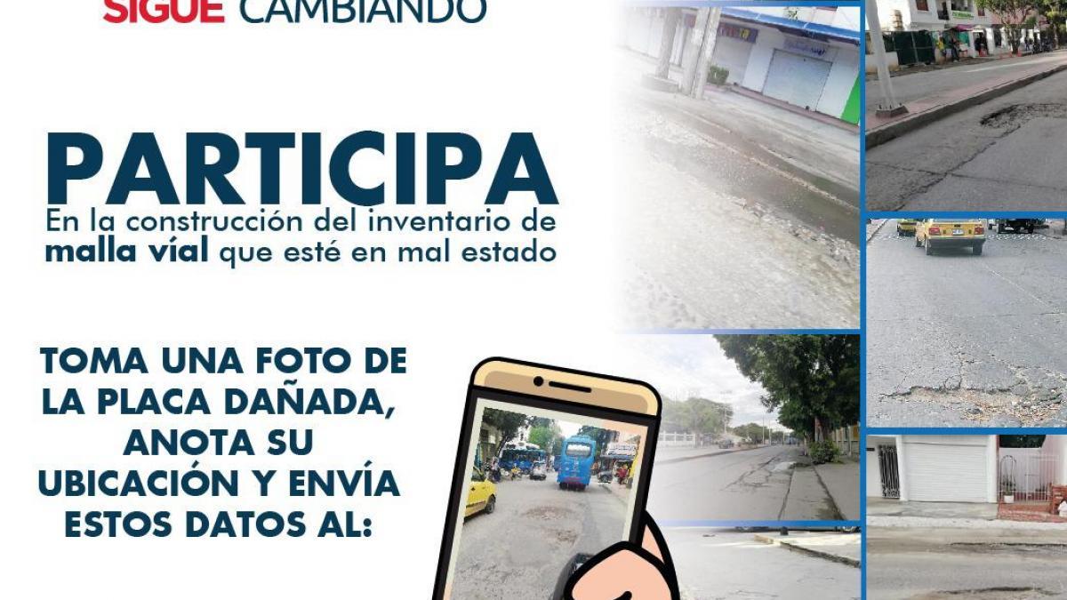 Masivamente samarios envían sus reportes para inventario de malla vial de la ciudad