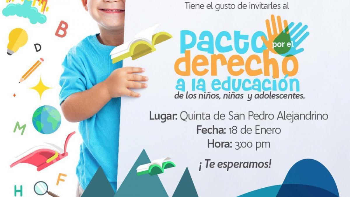 Con los docentes, alcalde Martínez  firmará el pacto por la Educación