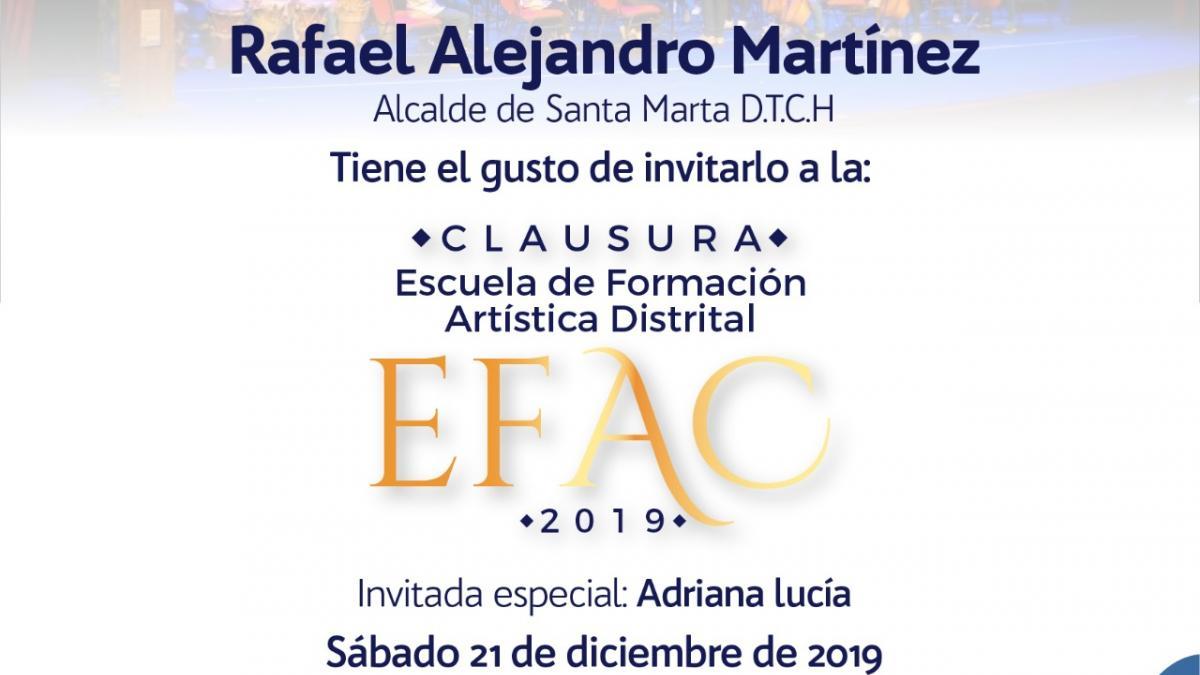 Clausura del EFAC 2019 será para todos los samarios