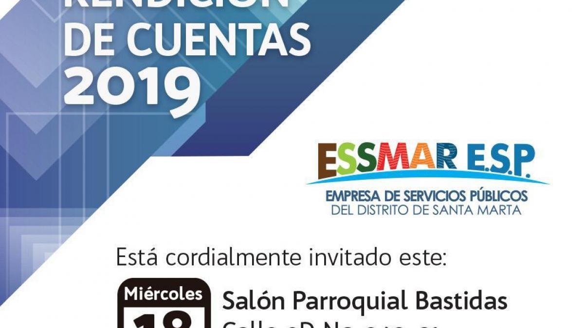 La Essmar presentará Rendición de Cuentas del 2019 en Bastidas