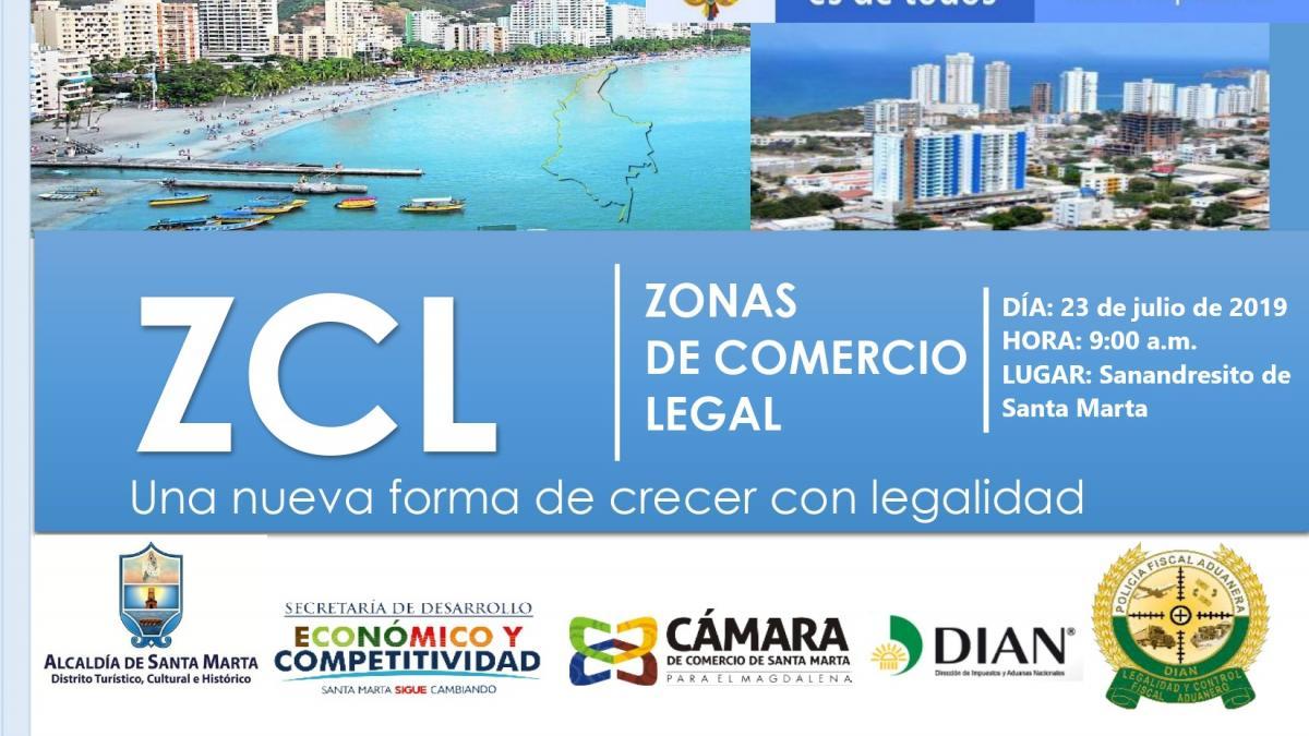 Invitación lanzamiento del programa 'Zonas de Comercio Legal'
