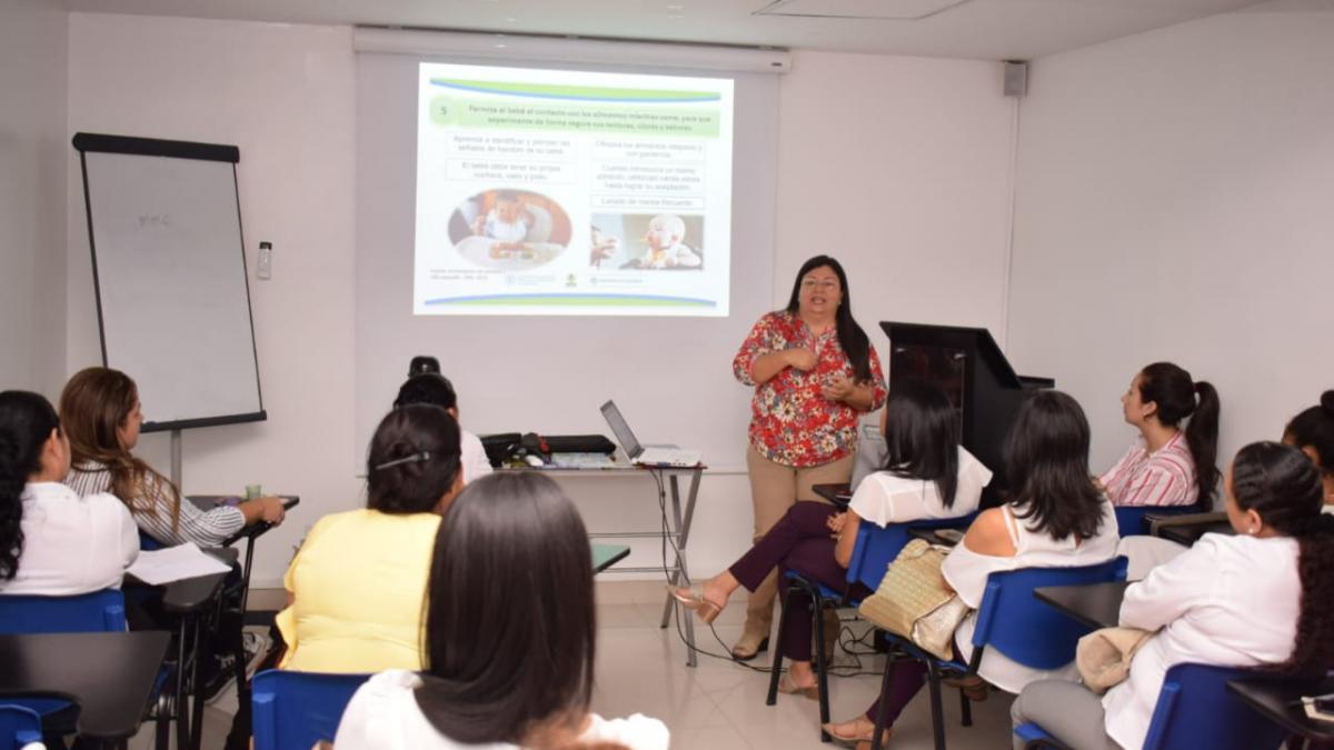 Distrito lleva a cabo comités de Lactancia Materna y Seguridad Alimentaria y Nutricional