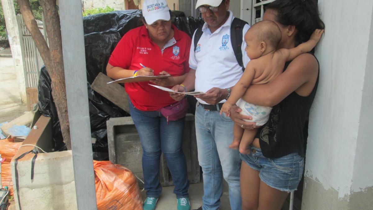 En 47 barrios, se adelanta 2do monitoreo rápido de cobertura en vacunación
