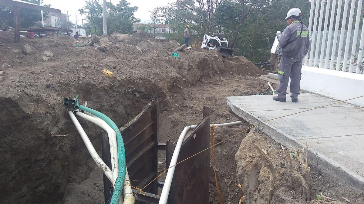 Obras en el colector del puente El Mayor avanza en un 45% de ejecución