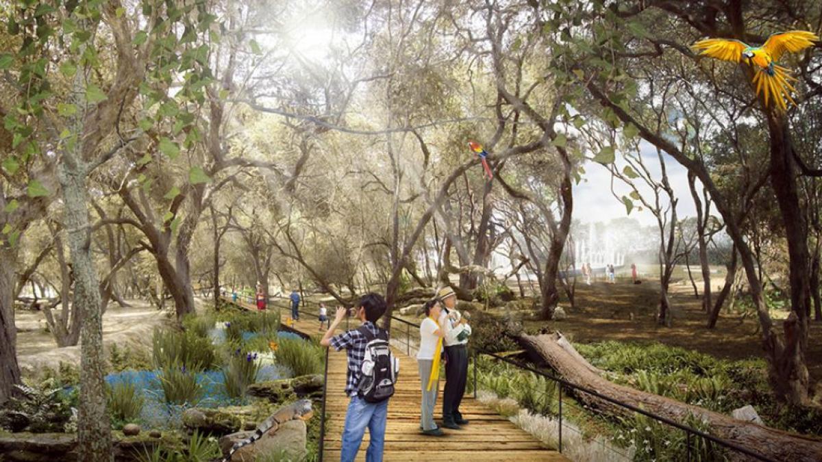 Propuesta de esta administración para la contrucción del parque lineal sobre el Rió Manzanares