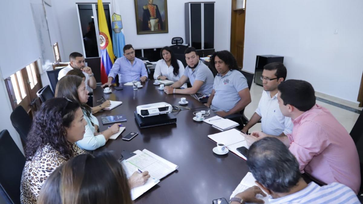 Jóvenes barristas del Unión Magdalena  tienen espacio en la Alcaldía del Cambio