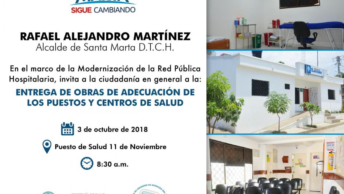 Distrito entrega obras de adecuación del puesto de salud Once de Noviembre
