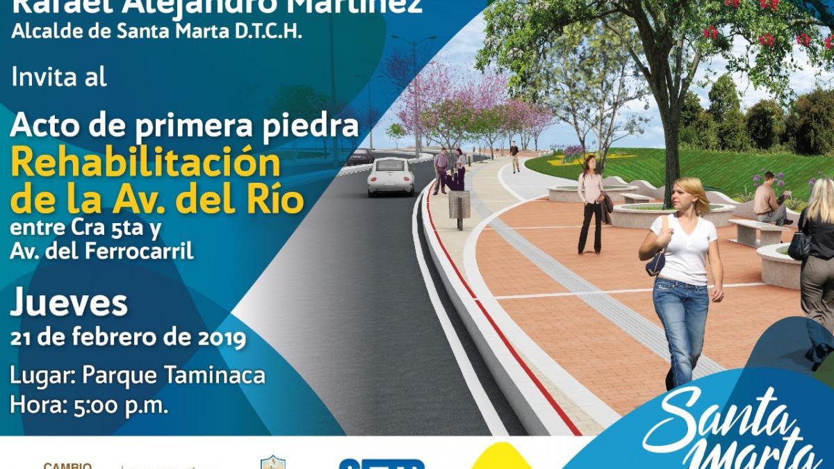 Inicia la rehabilitación de la avenida del Río