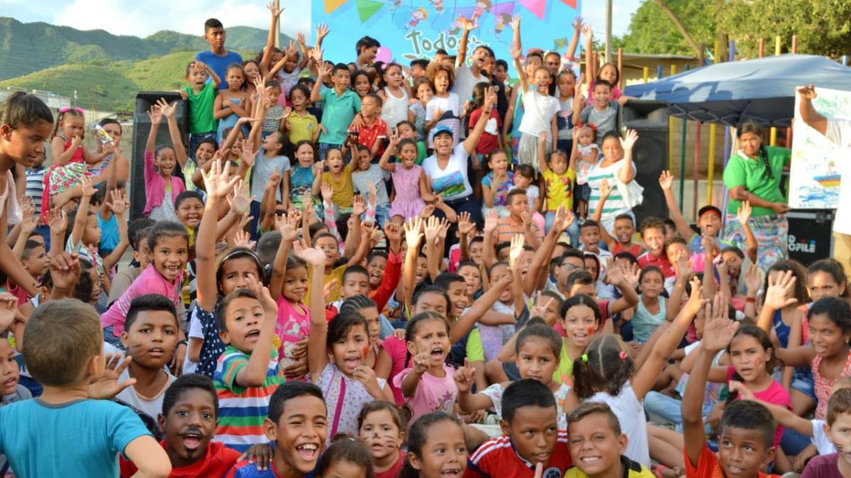 Los niños del parque Paraíso Pantano disfrutaron de 'Todos al Parque'