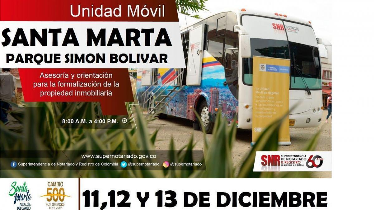 Unidad Móvil de restitución y formalización de tierras llegará a Santa Marta