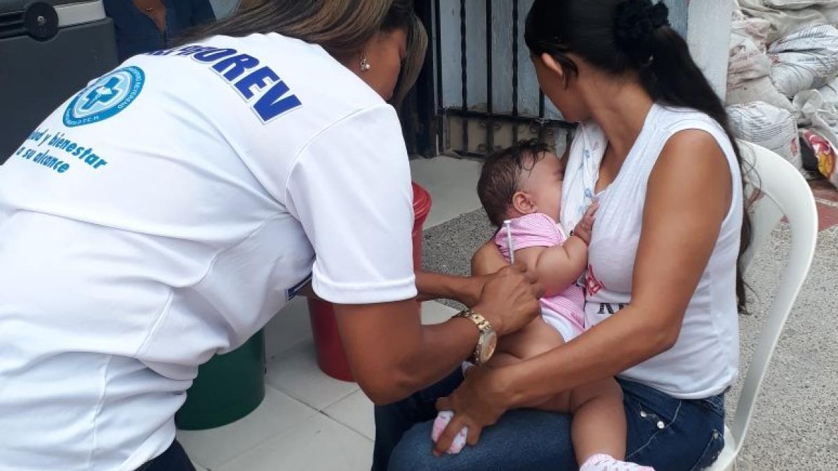 Continúa intensificación de la vacunación contra la influenza y el sarampión