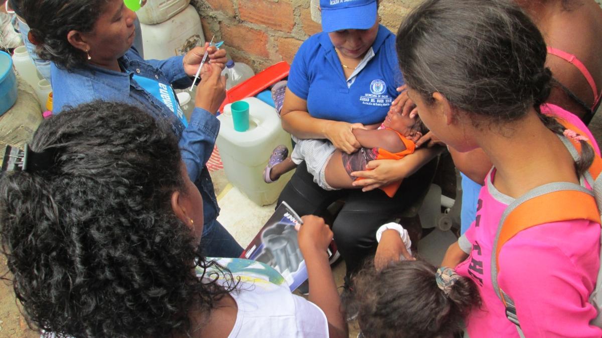 Distrito continúa intensificación de la vacuna contra el sarampión