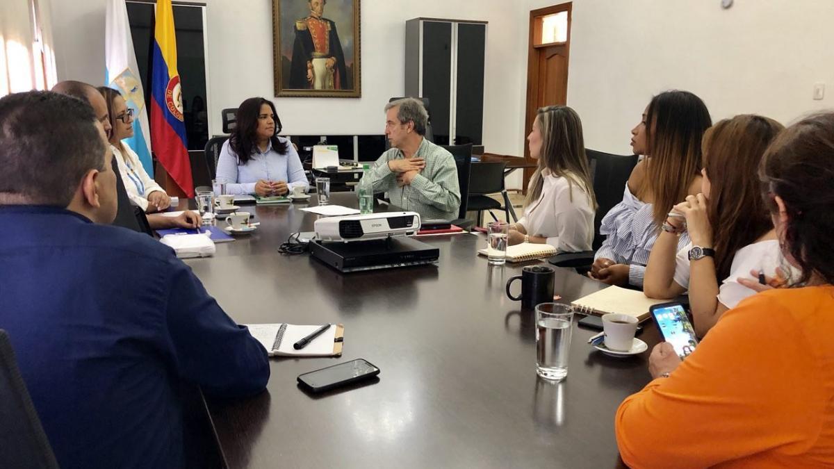 Alcaldesa (e) recibió visita del director nacional del Dane