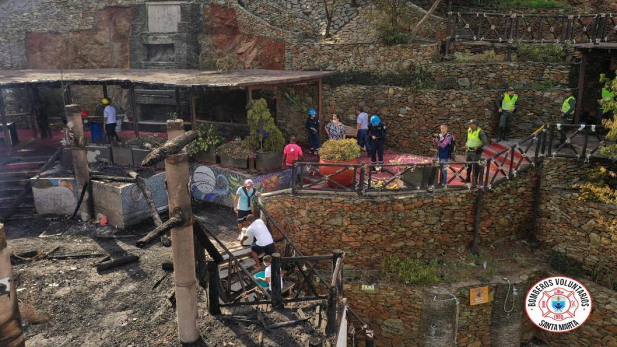 Alcaldía del Cambio realiza inspección para identificar causas del incendio del Hotel Jaba Nibue en Taganga