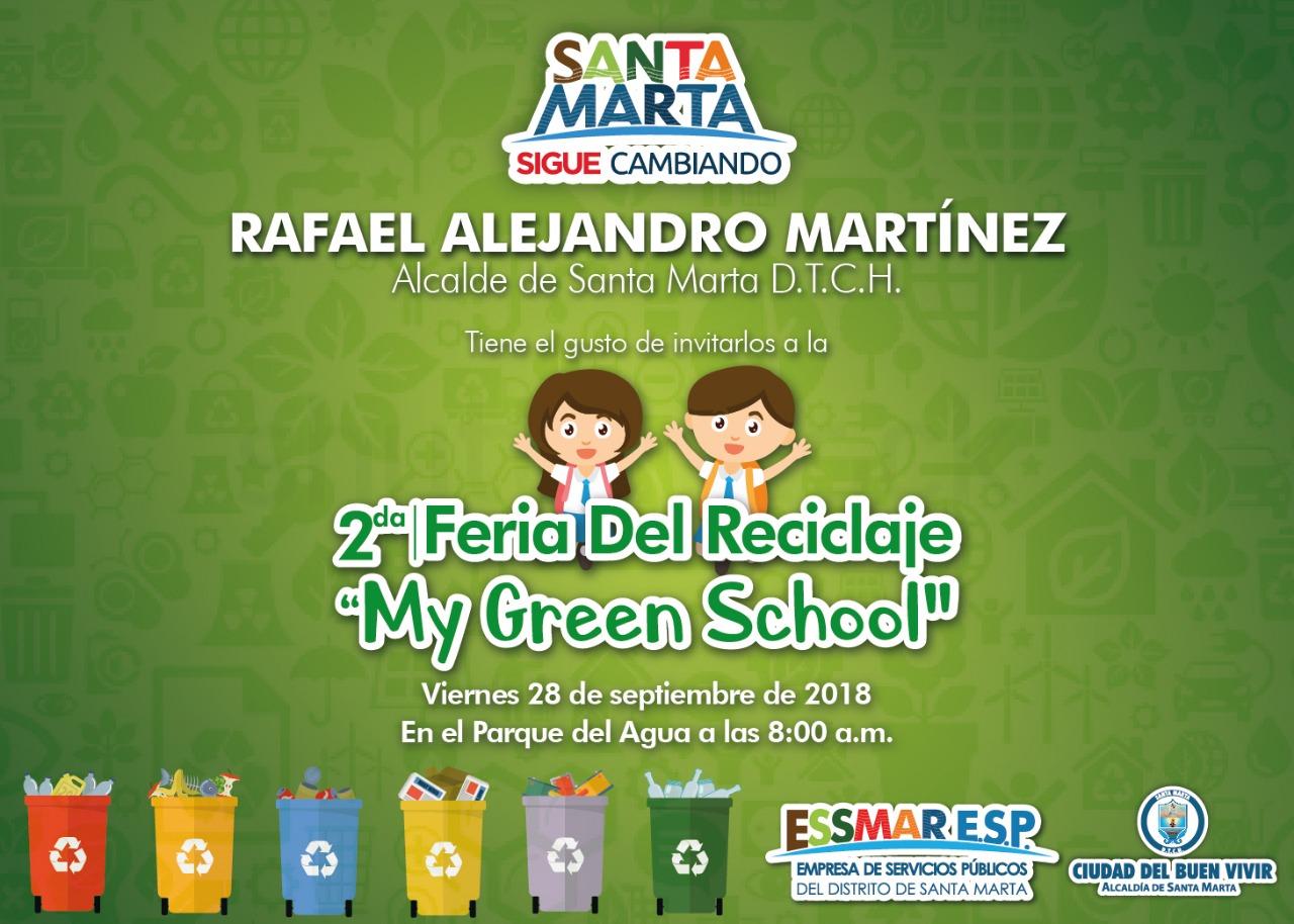 """Distrito incentiva el reciclaje en colegios con la feria """"My Green School"""""""