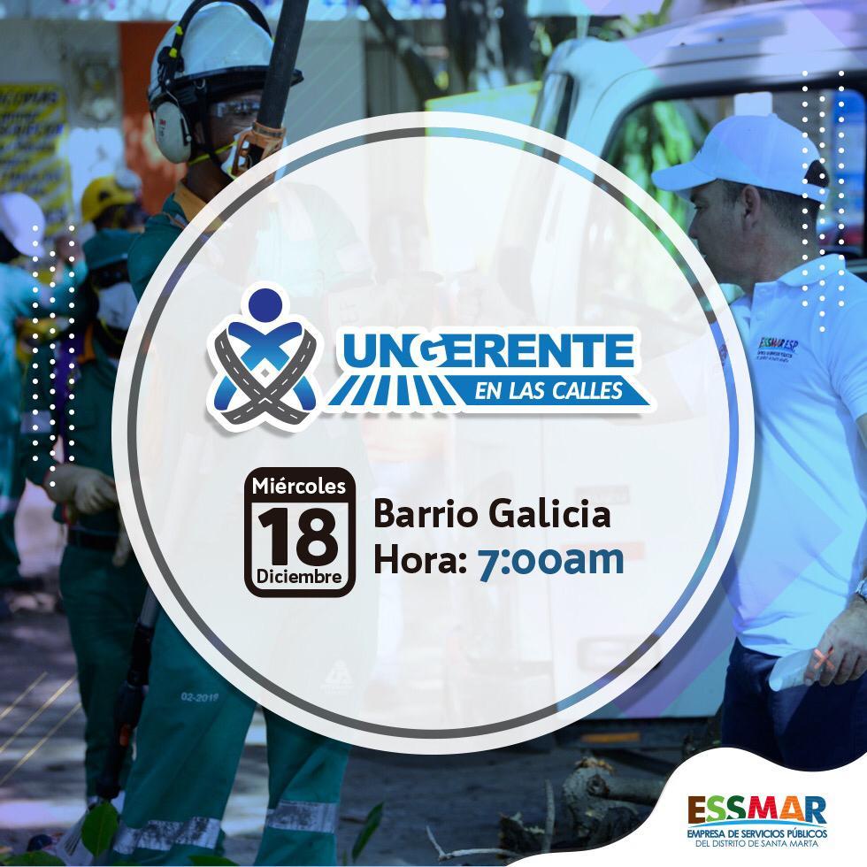 El programa 'Un Gerente en Las Calles' llegará al barrio Galicia