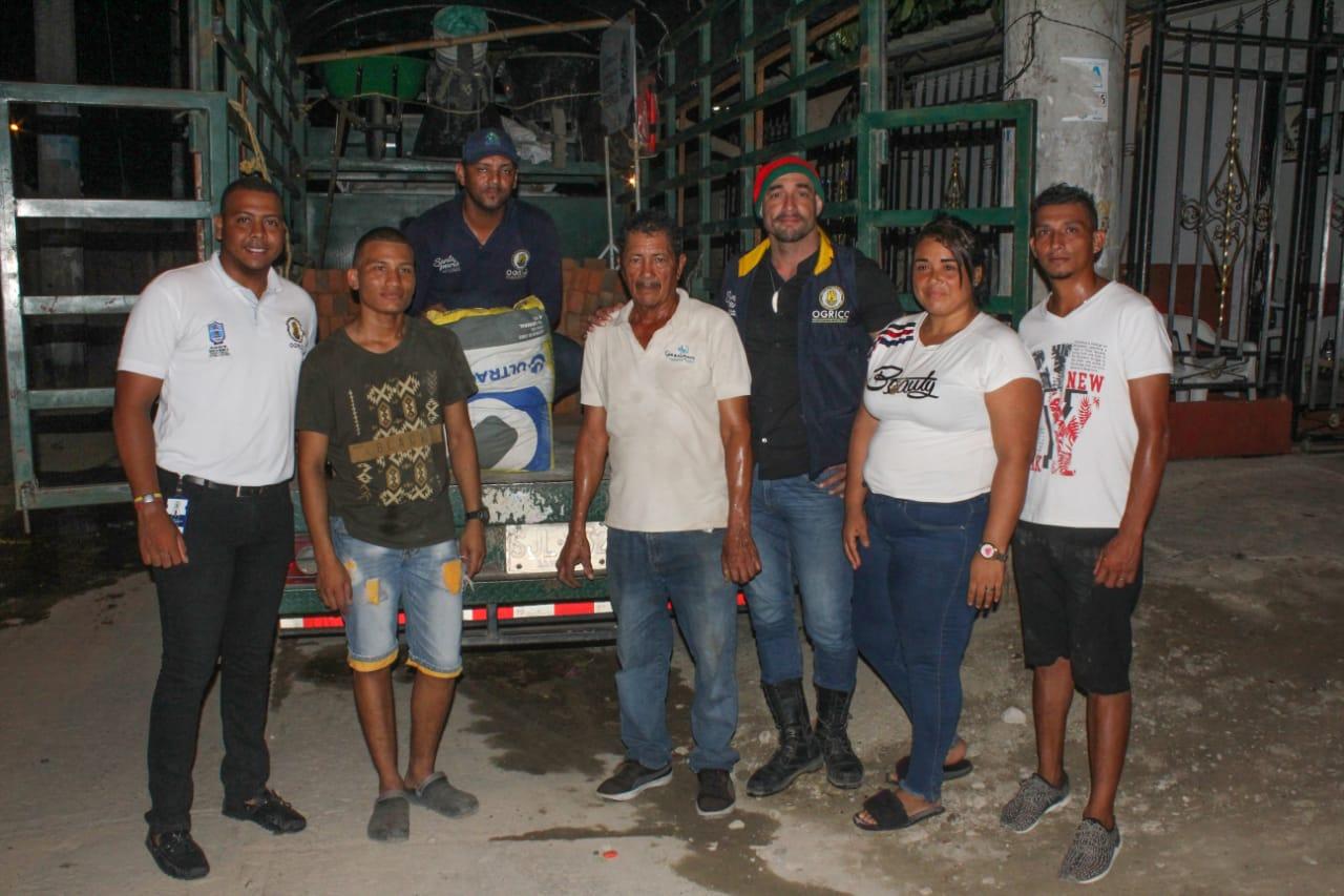 Dos familias afectadas por deslizamientos en Nacho Vives, recibieron insumos del Banco de Ayuda del Distrito